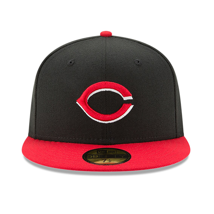 New Era 59Fifty Authentic Collection Cincinnati Reds On-Field Alternate Hat - Black, Red