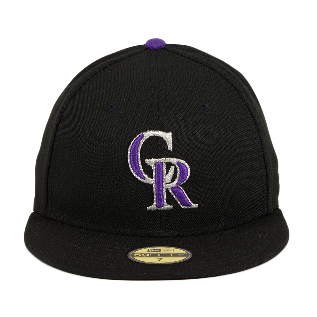 Authentic Collection New Era Colorado Rockies Game Hat - Black