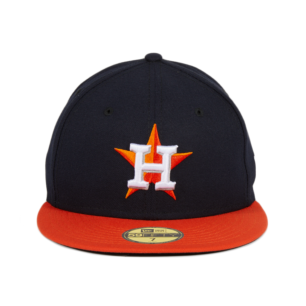 New Era 59Fifty Authentic Collection Houston Astros Road Game Hat - 2T Navy, Orange