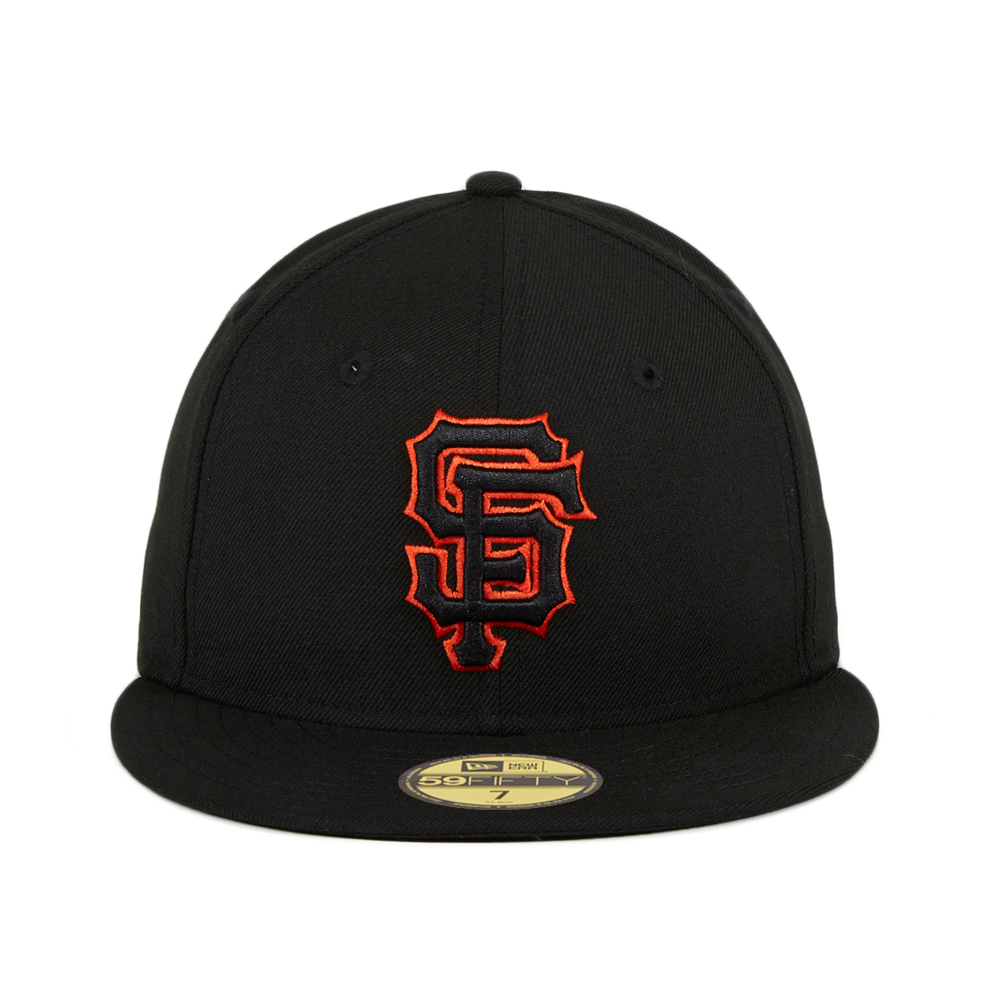 Exclusive New Era 59Fifty San Francisco Giants Hat - Black, Black, Orange