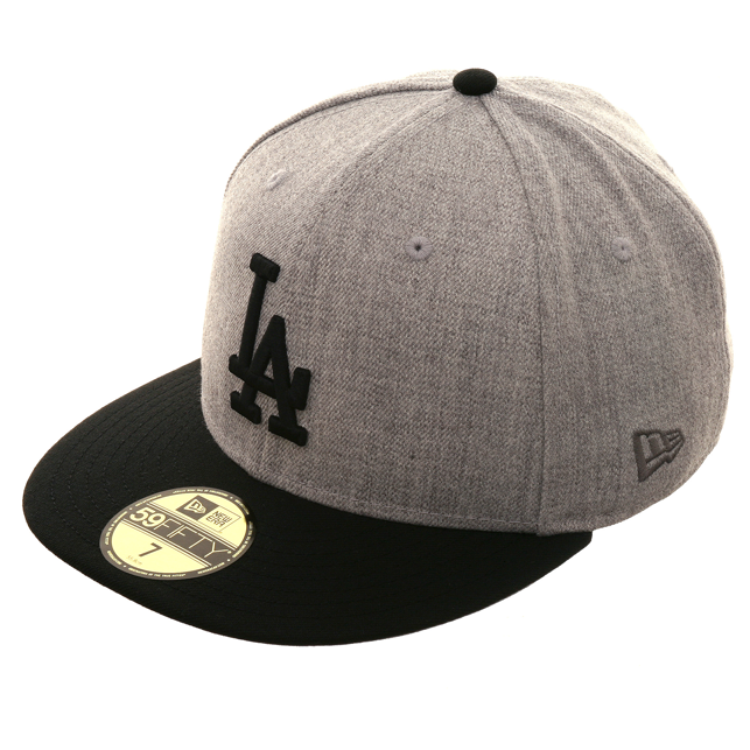 New Era 59Fifty Los Angeles Dodgers Hat - 2T Heather Gray cbd85400c7a