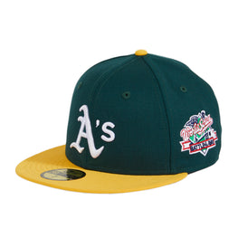 New Era 59Fifty Oakland Athletics 1989 World Series Hat - 2T Green, Gold