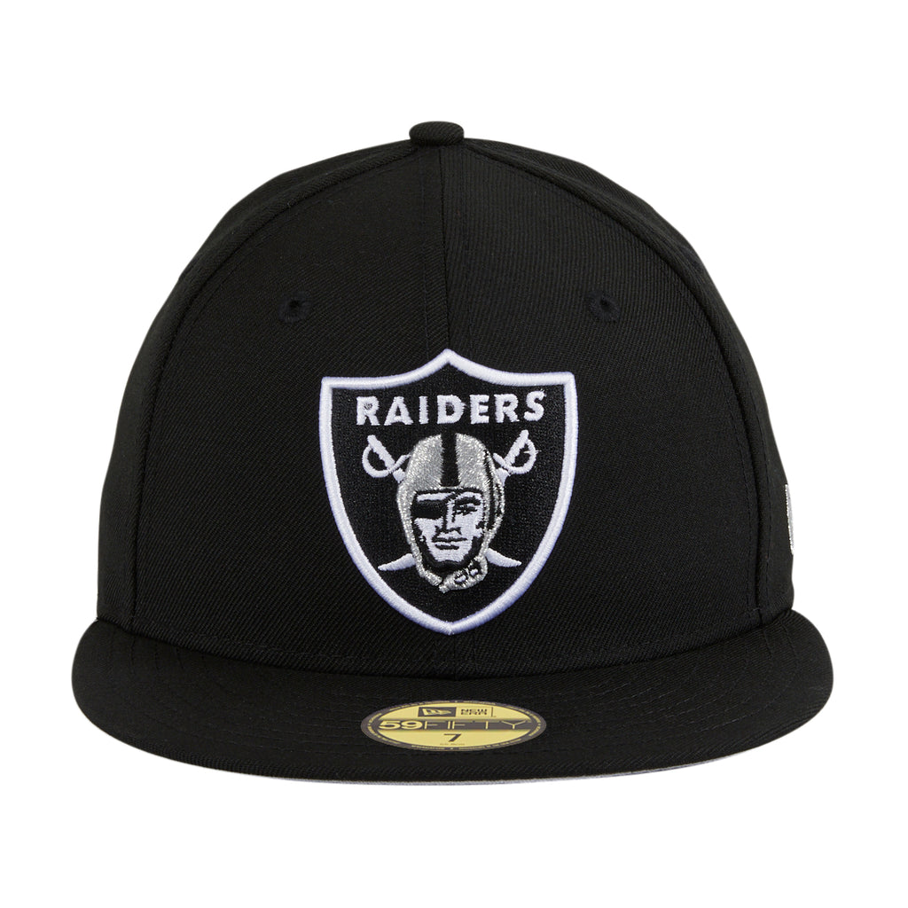 New Era 59Fifty Oakland Raiders Fitted Hat - Black, White