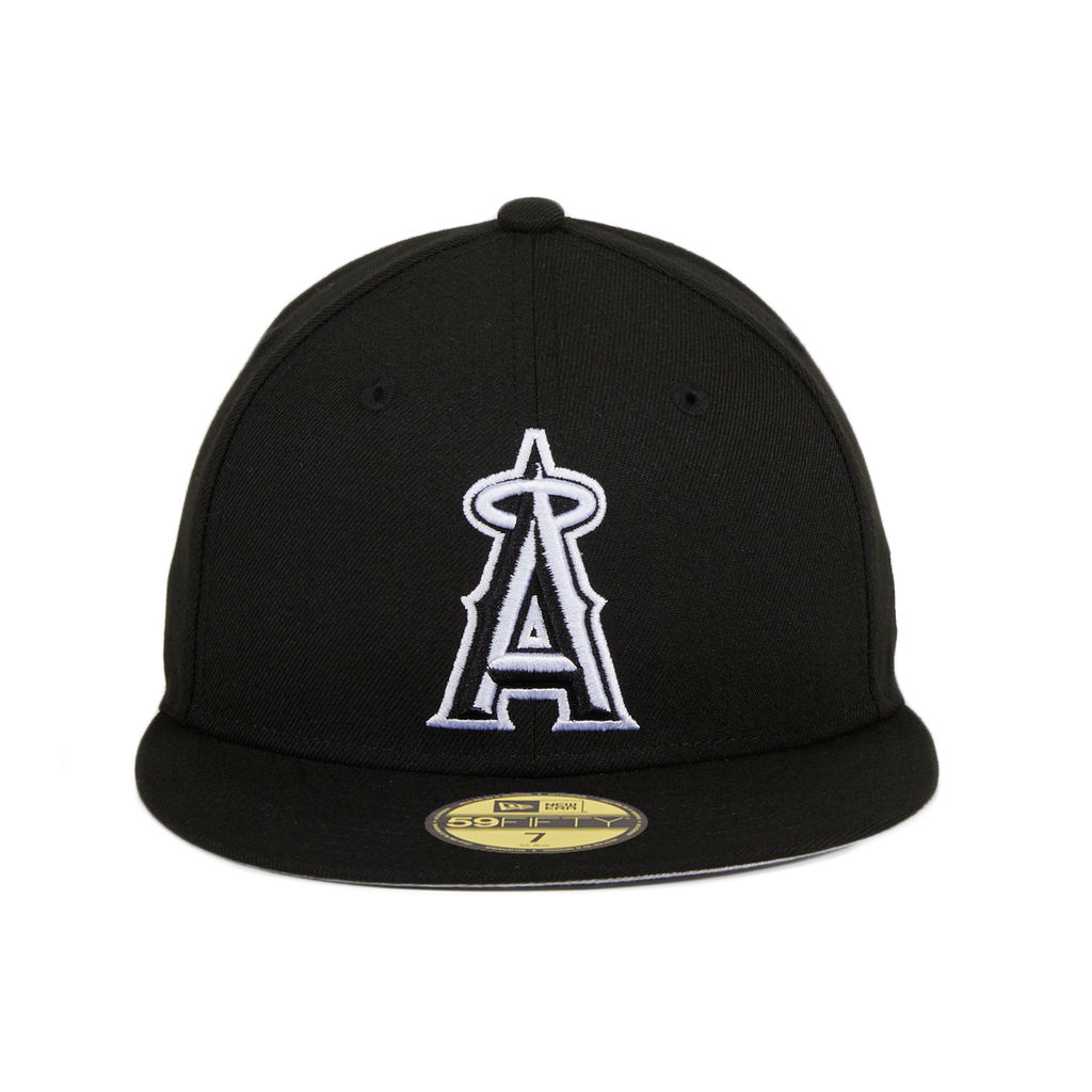 New Era 59Fifty Los Angeles Angels Hat - Black, White