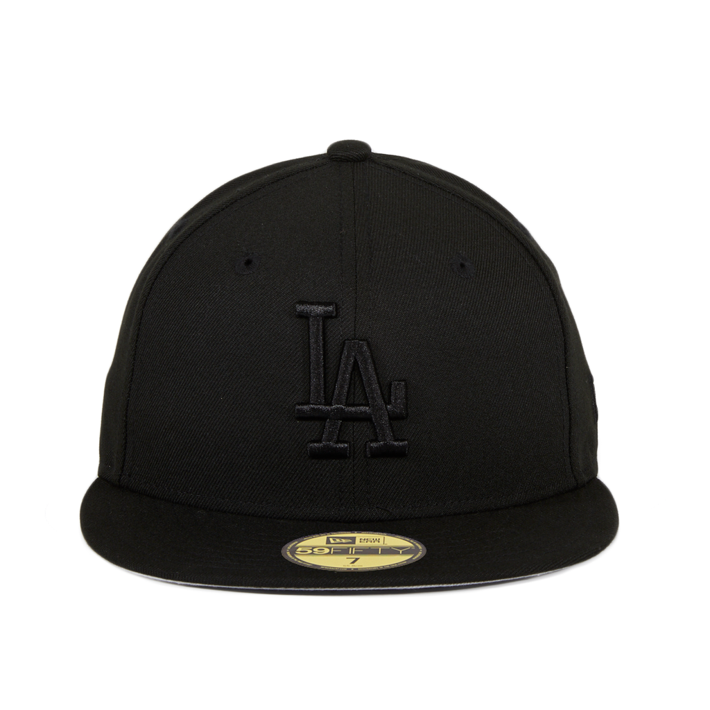 New Era 59Fifty Los Angeles Dodgers Hat - Black, Black