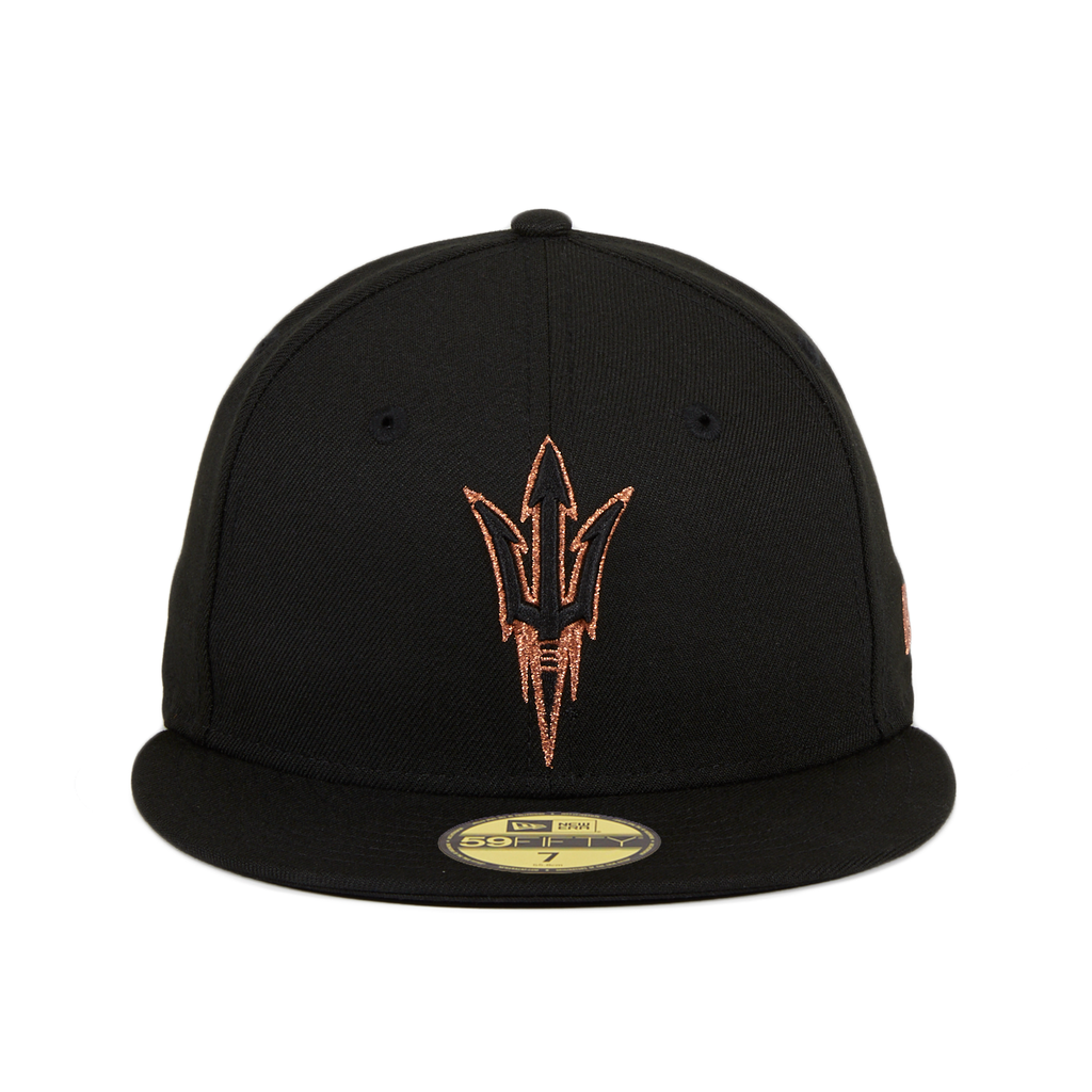 New Era 59Fifty Arizona State University Hat - Black, Copper