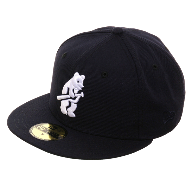 Exclusive New Era 59Fifty Chicago Cubs 1914 Hat - Navy
