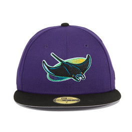 Exclusive New Era 59Fifty Tampa Bay Devil Rays Hat - 2T Purple, Black