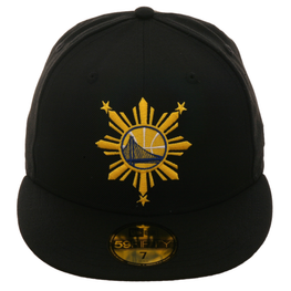 Exclusive New Era 59Fifty Golden State Warriors Filipino Heritage Hat - Black, Gold