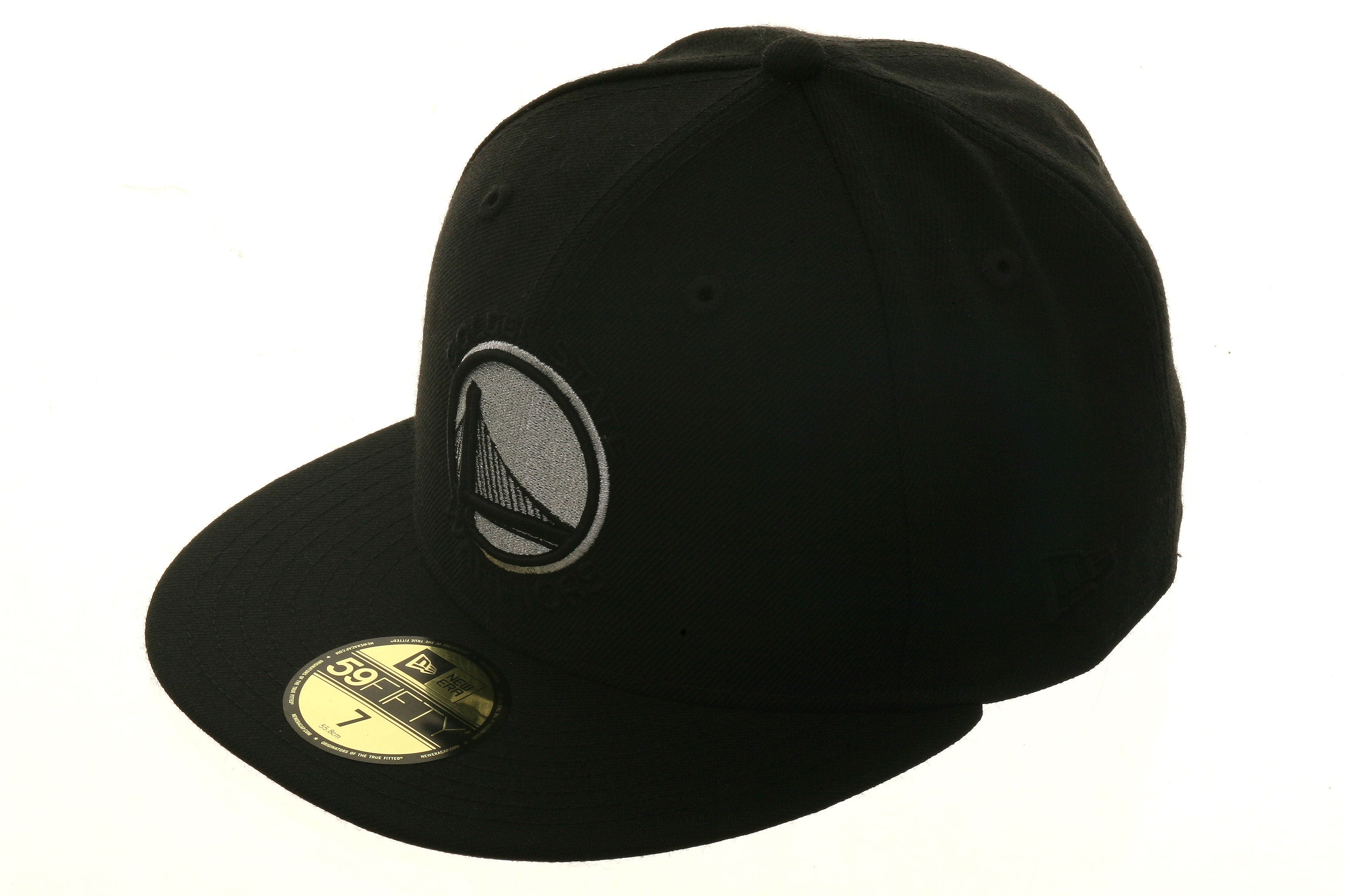 Exclusive New Era 59Fifty Golden State Warriors Alternate Hat - Black, Metallic Silver