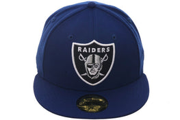 Hat Club Exclusive New Era 59Fifty Oakland Raiders Fitted Hat - Royal, Black
