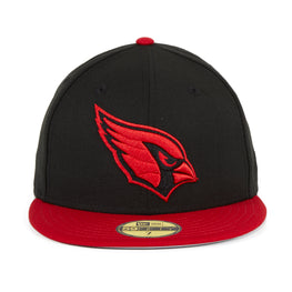 Exclusive New Era 59Fifty Arizona Cardinals Hat - 2T Black, Red