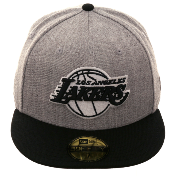 Exclusive New Era 59Fifty Los Angeles Lakers Hat - 2T Heather Gray ... dfd3bdf676e1