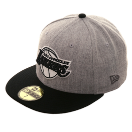 Exclusive New Era 59Fifty Los Angeles Lakers Hat - 2T Heather Gray, Black