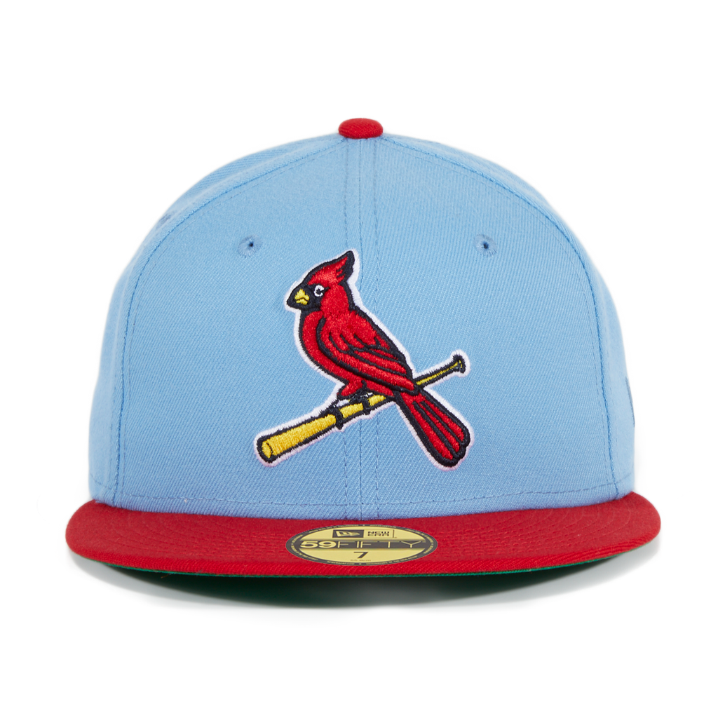 Exclusive New Era St. Louis Cardinals Alternate Hat - 2T Light Blue, Red