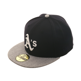 Exclusive New Era Oakland Athletics Hat - 2T Navy, Heather