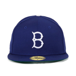 Exclusive New Era 59Fifty Brooklyn Dodgers Game Hat - Royal, White