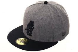 Exclusive New Era 59Fifty Chicago Cubs 1914 Hat - 2T Heather Gray, Navy