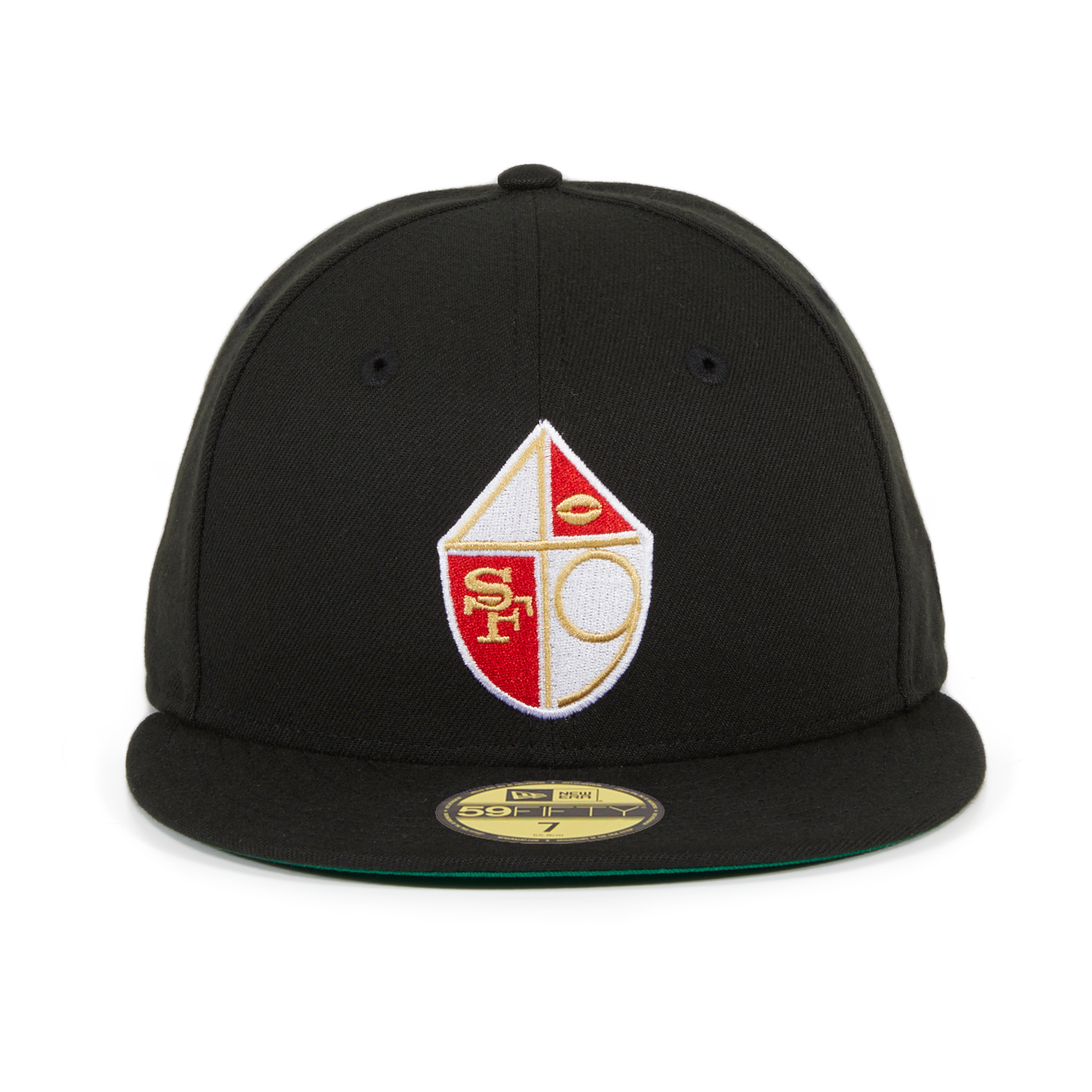 Exclusive New Era 59Fifty San Francisco 49ers Shield Hat - Black – Hat Club 8e7973717de