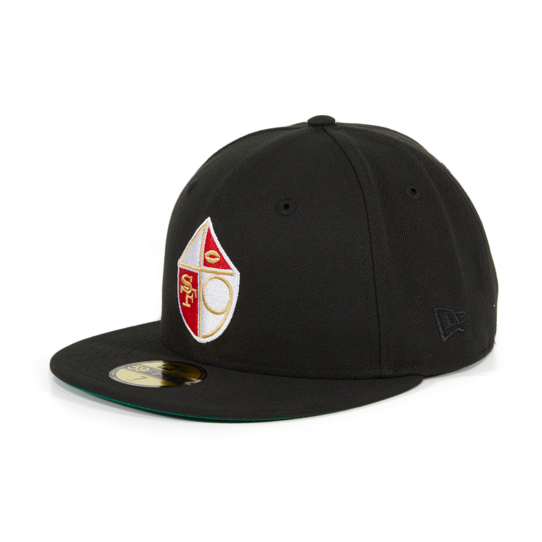 Exclusive New Era 59Fifty San Francisco 49ers Shield Hat - Black ... 4ae1e3d5ad1