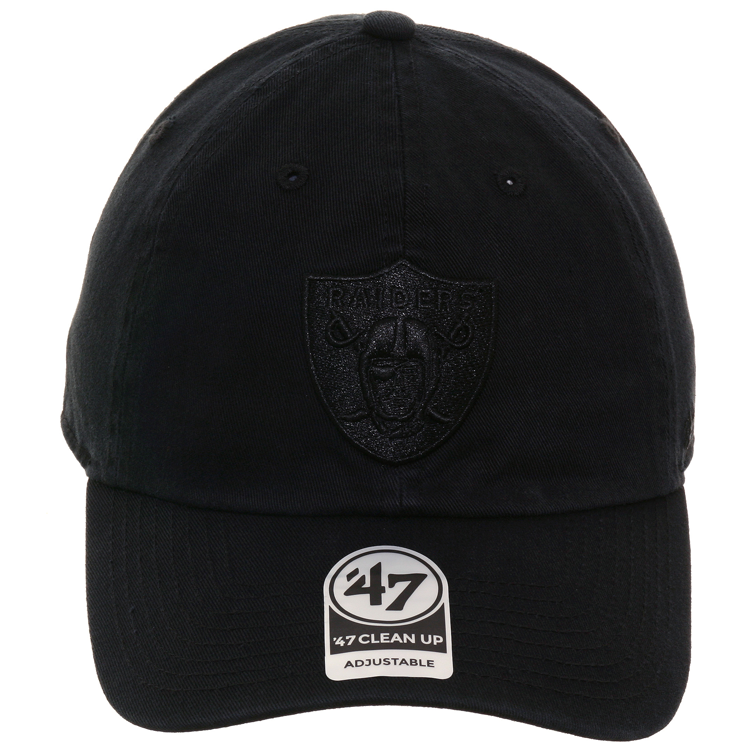 47 Brand Clean Up Oakland Raiders Dad Hat - Black, Black, Black