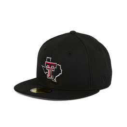 Exclusive New Era 59Fifty Texas Tech Red Raiders State Hat - Black