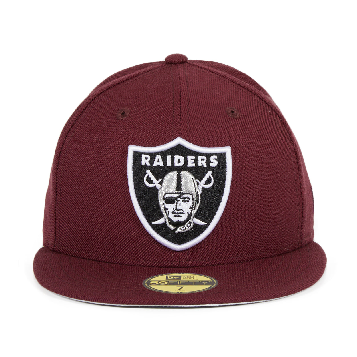 Hat Club Exclusive New Era 59Fifty Oakland Raiders Fitted Hat - Maroon