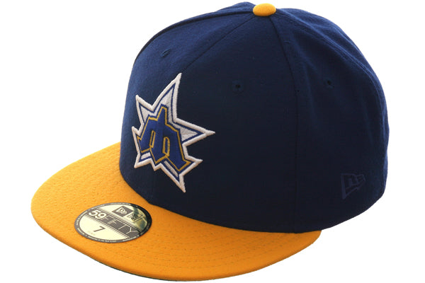Exclusive New Era 1981 Seattle Mariners Hat - 2T Royal, Gold