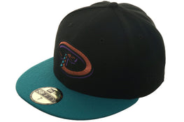 Exclusive New Era 59Fifty Turn Ahead The Clock Arizona Diamondbacks Hat - 2T Black, Teal