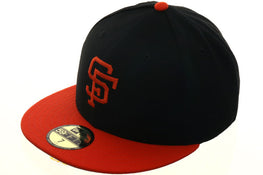 Hat Club Exclusive New Era 59Fifty San Francisco Giants 1977 Fitted Hat - 2T Black, Orange
