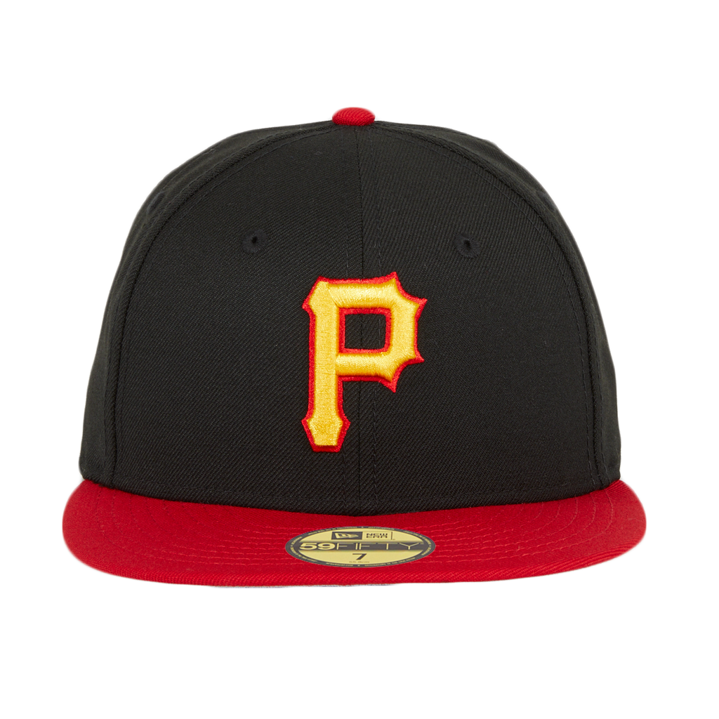 New Era 59Fifty Retro On-Field Pittsburgh Pirates w/ Gray Undervisor Hat - Black, Red