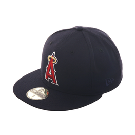 Exclusive New Era 59Fifty Los Angeles Angels Hat w/ Gray Undervisor - Navy