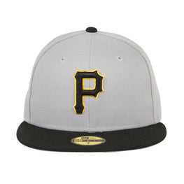 Exclusive New Era 59Fifty Pittsburgh Pirates Hat - 2T Gray, Black