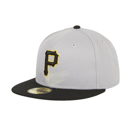 Hat Club Exclusive New Era 59Fifty Pittsburgh Pirates w/ Gray Undervisor Fitted Hat - 2T Gray, Black