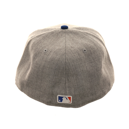 Exclusive New Era 59Fifty New York Mets Hat - 2T Heather Gray, Royal