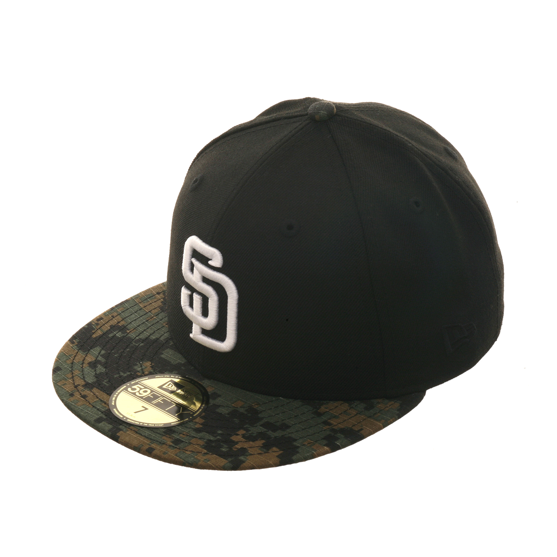 Exclusive New Era 59Fifty San Diego Padres Hat - 2T Black 25b51c928ae4