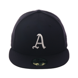 Exclusive New Era 59Fifty Philadelphia Athletics Fitted Hat - Navy, White