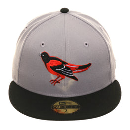Exclusive New Era 59Fifty Baltimore Orioles 1994 Hat - 2T Gray, Black