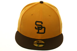Exclusive New Era 59Fifty 1971 San Diego Padres Hat - 2T Gold, Brown
