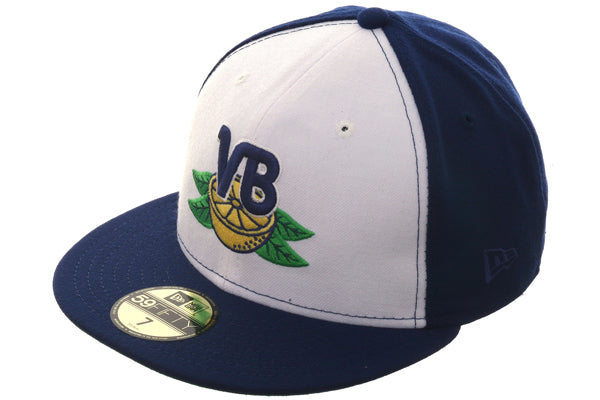 Exclusive New Era 59Fifty Vero Beach Dodgers Hat - White, Royal