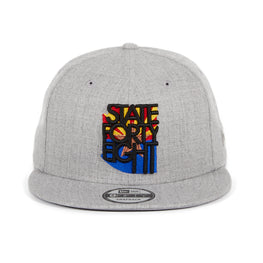 Exclusive New Era 59Fifty State Forty Eight Flag Logo Fitted Hat - Heather