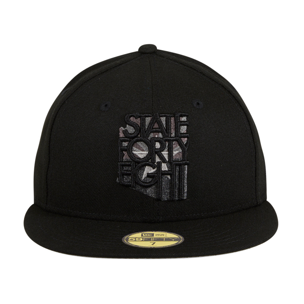 Exclusive New Era 59Fifty State Forty Eight Flag Hat - Black, Graphite