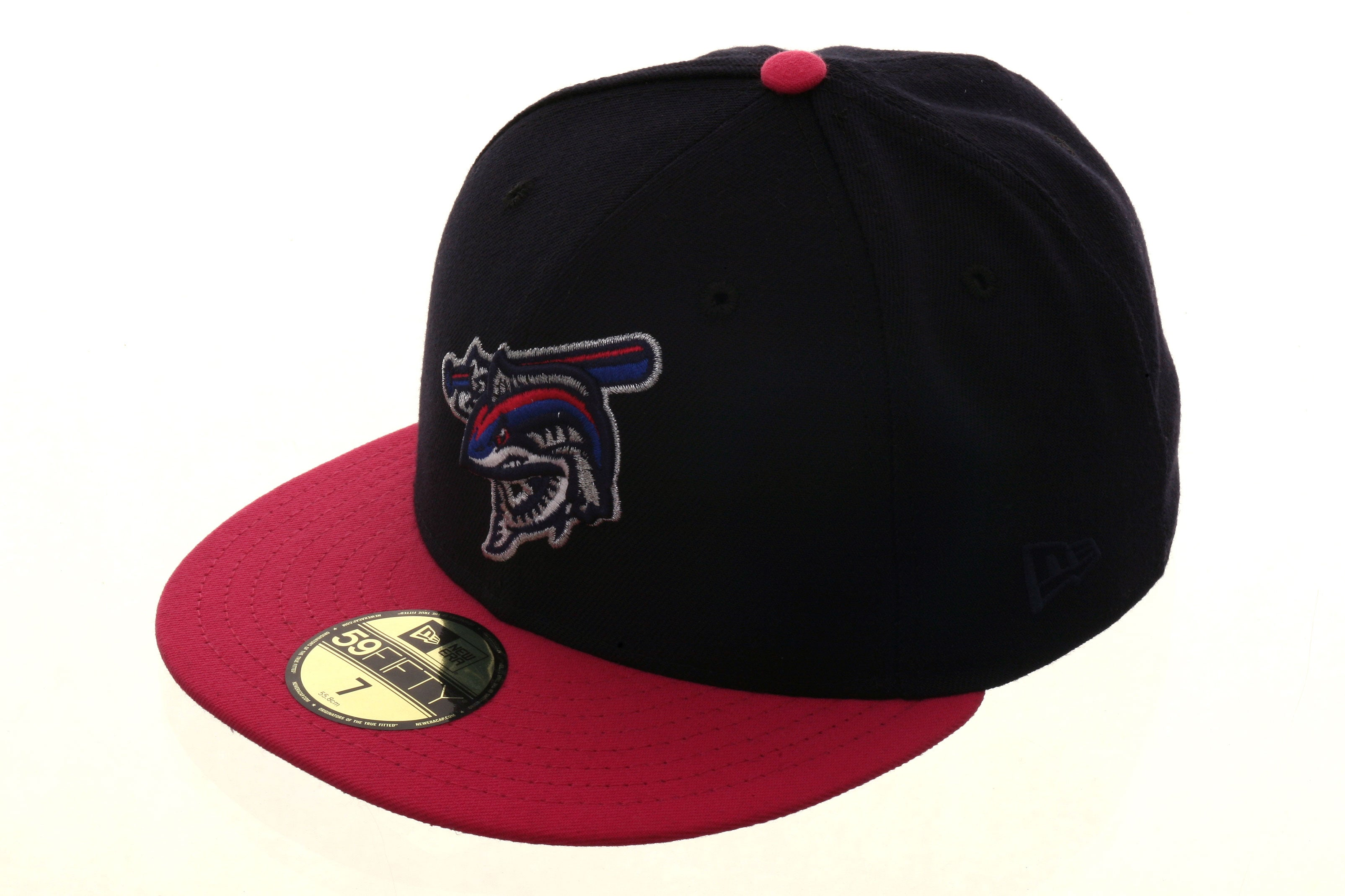 Exclusive New Era 59Fifty Pensacola Wahoos Hat - 2T Navy, Pink