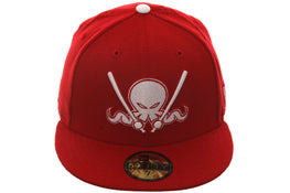 New Era 59Fifty Dionic Octo Slugger Melton Hat - Red, White