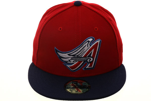 Exclusive New Era Los Angeles Angels 1997 Hat - 2T Red, Light Navy