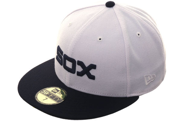 Exclusive New Era Chicago White Sox 1976 Hat - 2T White, Navy
