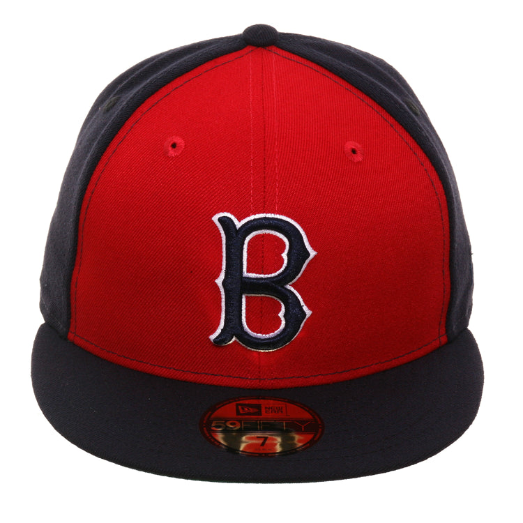 Exclusive New Era 59Fifty Boston Red Sox Rail Hat - Red, Navy