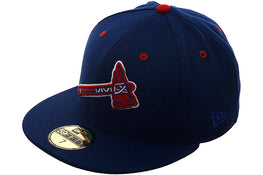 Exclusive New Era 59Fifty Atlanta Braves BP Logo Hat - Royal, Red, White