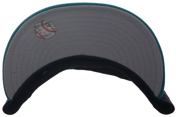 Exclusive New Era 59Fifty Seattle Mariners 1997 Hat - 2T Navy, Teal