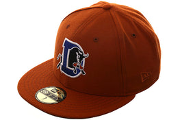 Exclusive New Era 59Fifty Durham Bulls Hat - Burnt Orange